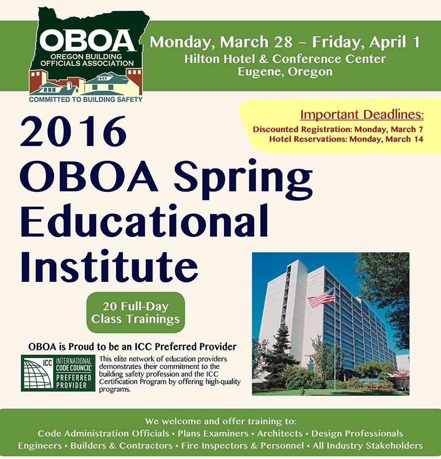 Oregon Building Officials Association - Event Details